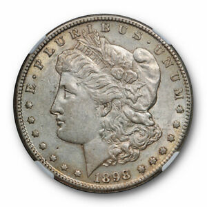1898 S $1 MORGAN DOLLAR NGC AU 58 ABOUT BETTER DATE LIGHTLY TONED ORIGINAL