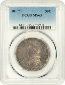 Click now to see the BUY IT NOW Price! 1817/3 50C PCGS MS63   BUST HALF DOLLAR   POPULAR OVERDATE