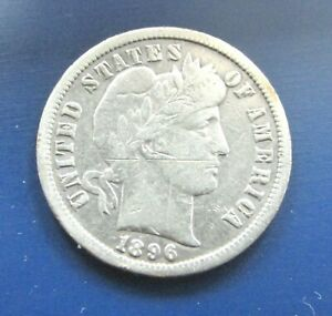 1896 O NEW ORLEANS BARBER SILVER DIME XF BOX 2