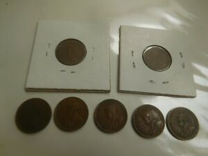 CANADA SMALL CENTS  1921 1928  TWO  1929  TWO  1931 1935 SEE PHOTOS