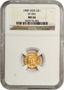 1889 G$1 NGC MS66  DOUBLE DIE REVERSE VP 001    1 GOLD COIN