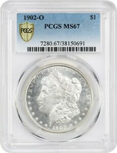 Click now to see the BUY IT NOW Price! 1902 O $1 PCGS MS67   BLAZING GEM    MORGAN SILVER DOLLAR   BLAZING GEM