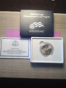 2008 BALD EAGLE COMMEMORATIVE COIN/CLAD HAL DOLLAR U.S. MINTED COIN 128