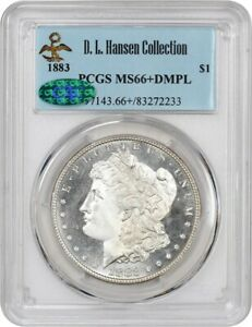 Click now to see the BUY IT NOW Price! 1883 $1 PCGS/CAC MS66  DMPL EX: D.L. HANSEN   TIED FOR FINEST KNOWN