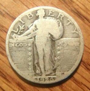 1926 STANDING LIBERTY SILVER QUARTER NICE CIRCULATED COIN WITH NO PROBLEMS