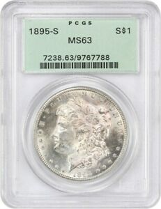 1895 S $1 PCGS MS63  OGH    POPULAR KEY DATE