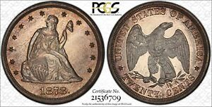 Click now to see the BUY IT NOW Price! 1878 20C TWENTY CENT PCGS PR 63 PROOF ONLY ISSUE KEY DATE TONED ORIGINAL KEY