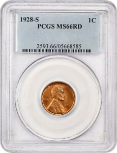 Click now to see the BUY IT NOW Price! 1928 S 1C PCGS MS66 RD   LINCOLN CENT   GRADE RARITY GEM