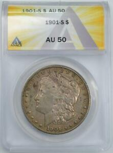 1901 S MORGAN SILVER DOLLAR ANACS AU 50  BLOW OUT PRICED