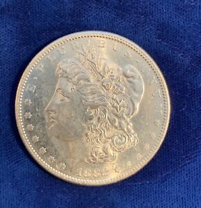 U.S.  1882 S  MORGAN SILVER DOLLAR BRILLIANT UNCIRCULATED AND PL PROOFLIKE