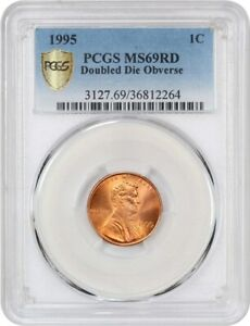 Click now to see the BUY IT NOW Price! 1995 1C PCGS MS69 RD  DOUBLED DIE OBVERSE  TIED FOR FINEST    TIED FOR FINEST