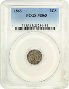 1865 3CS PCGS MS65   3 CENT SILVER   UNDERRATED ISSUE