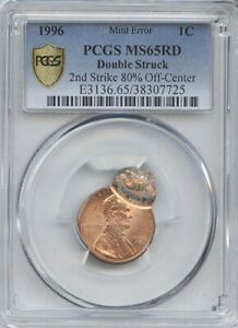 1996 1 DOUBLE STRUCK PCGS MS 65 RED