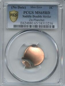 ND  1 SADDLE DOUBLE STRIKE PCGS MS 65 RED
