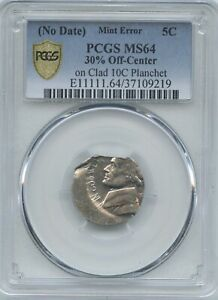 ND 5 30  O/C ON CLAD 10  PCGS MS 64