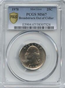 1978  25 BROADSTRUCK PCGS MS 67