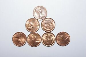 1980 1 CENT AUSTRALIA A LOT OF 7 HIGH GRADE AND HIGH VALUE COINS 26