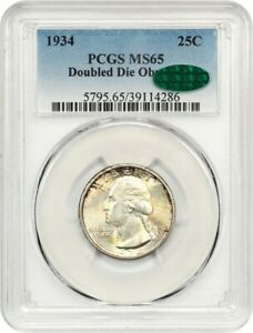 Click now to see the BUY IT NOW Price! 1934 25C PCGS/CAC MS65  DOUBLED DIE   VARIETY   WASHINGTON QUARTER