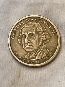 2007 P GEORGE WASHINGTON PRESIDENTIAL DOLLAR COIN   TONING ERROR COLOR ERROR.