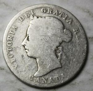 CANADA 1900 STERLING SILVER 25 CENTS OLD DATE QUEEN VICTORIA