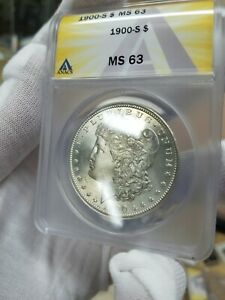 1900 S MORGAN ANACS MS 63  KEY DATE WITH ERROR  LOOK