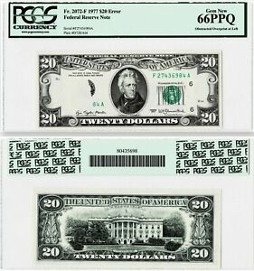 Click now to see the BUY IT NOW Price! ERROR 1977 $20 FRN NOTE FR.2072 F  OBSTRUCTED OVERPRINT AT LEFT  PCGS 66PPQ