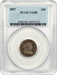 1807 10C PCGS VG 08   AFFORDABLE TYPE COIN   BUST DIME   AFFORDABLE TYPE COIN