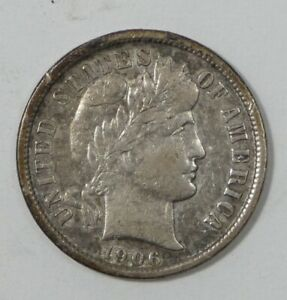 1906 O BARBER DIME EXTRA FINE SILVER 10 CENTS