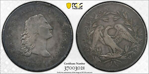 C13022  1794 FLOWING HAIR SILVER DOLLAR PCGS VF DETAILS    SUPER