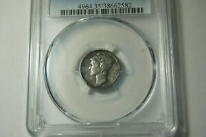 1927 S PCGS VF35 MERCURY DIME STRONG DATE & MINTMARK