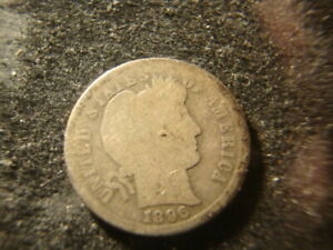 1896 S G  BARBER LIBERTY DIME DECENT COIN WAW 1
