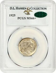 Click now to see the BUY IT NOW Price! 1925 5C PCGS/CAC MS66  EX: D.L. HANSEN   BUFFALO NICKEL   SILKY GEM