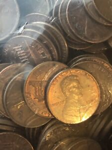 1959 1960S 1970S 1982 LINCOLN PENNY KEY MIXED DATES 1 LOT OF 50 COIN SET BU CIR