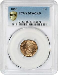 Click now to see the BUY IT NOW Price! 1885 1C PCGS MS66 RD   PRETTY RED GEM   INDIAN CENT   PRETTY RED GEM
