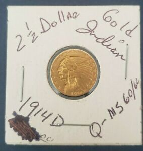 VERY NICE 1914 D INDIAN HEAD GOLD QUARTER EAGLE ONLY 448K MINTED $2.50