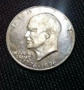 1976 S 40  SILVER GEM BICENTENNIAL PROOF IKE EISENHOWER DOLLAR  NICE LT. COLOR