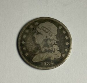 1834 CAPPED BUST QUARTER MINOR BLEMISHES DISCOUNT