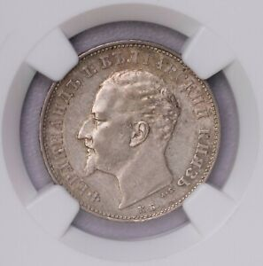 Click now to see the BUY IT NOW Price! NGC MS61 1894KB BULGARIA LEV  SILVER KEY DATE ONLY TWO FINER