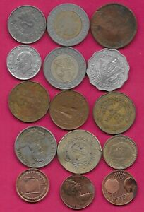 15 WORLD COINS LOTS MIX DATES MIX COUNTRIES 10