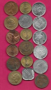 18 WORLD COINS LOTS MIX DATES MIX COUNTRIES 13