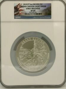 Click now to see the BUY IT NOW Price! 2010 5 OZ SILVER AMERICA THE BEAUTIFUL  GRAND CANYON LIGHT FINISH  NGC SP69 ER