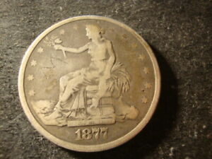 1877 VG F DETAILS TRADE LIBERTY DOLLAR DECENT LOOKING COIN BTX