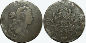 1798 DRAPED BUST LARGE CENT   2ND HAIR STYLE   KM22   HOLE FILLER   MX557