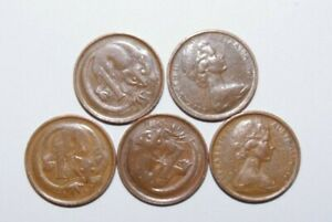 1967 1 CENT AUSTRALIA A LOT OF 5 HIGH VALUE COINS 3