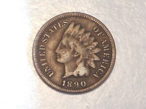 1890 INDIAN HEAD CENT  ABT. FINE & ATTRACTIVE