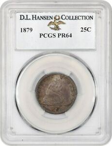 1879 25C PCGS PR 64 EX: D.L. HANSEN   LOW MINTAGE PROOF   LIBERTY SEATED QUARTER