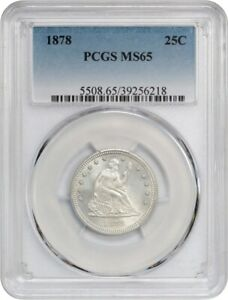 1878 25C PCGS MS65   SILKY GEM   LIBERTY SEATED QUARTER   SILKY GEM