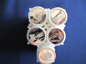 Click now to see the BUY IT NOW Price! 2005 S SILVER STATEHOOD QUARTER PROOF ROLL SET