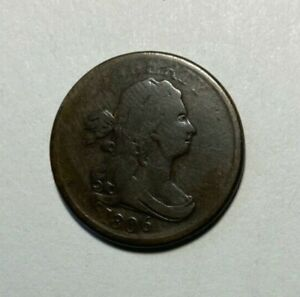 1806 DRAPED BUST 1/2 CENT LOWER MINTAGE 356 000