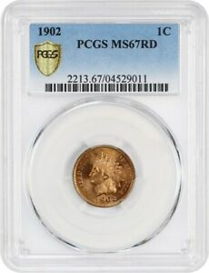 Click now to see the BUY IT NOW Price! 1902 1C PCGS MS67 RD   INDIAN CENT   GORGEOUS REGISTRY QUALITY